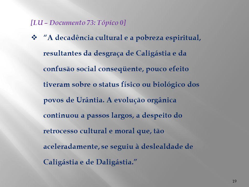 [LU – Documento 73: Tópico 0]